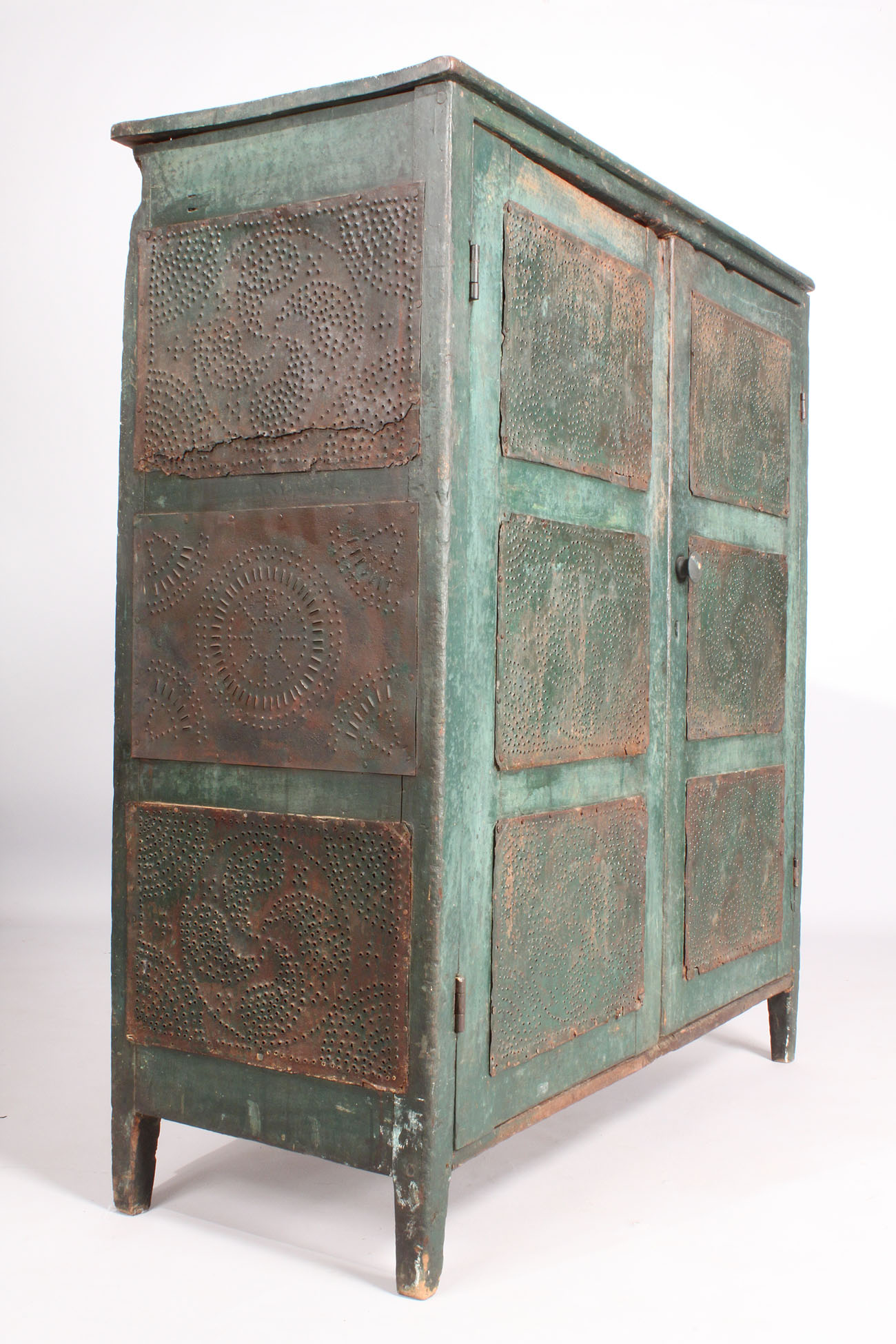 Lot 136 Nc Green Painted Pie Safe