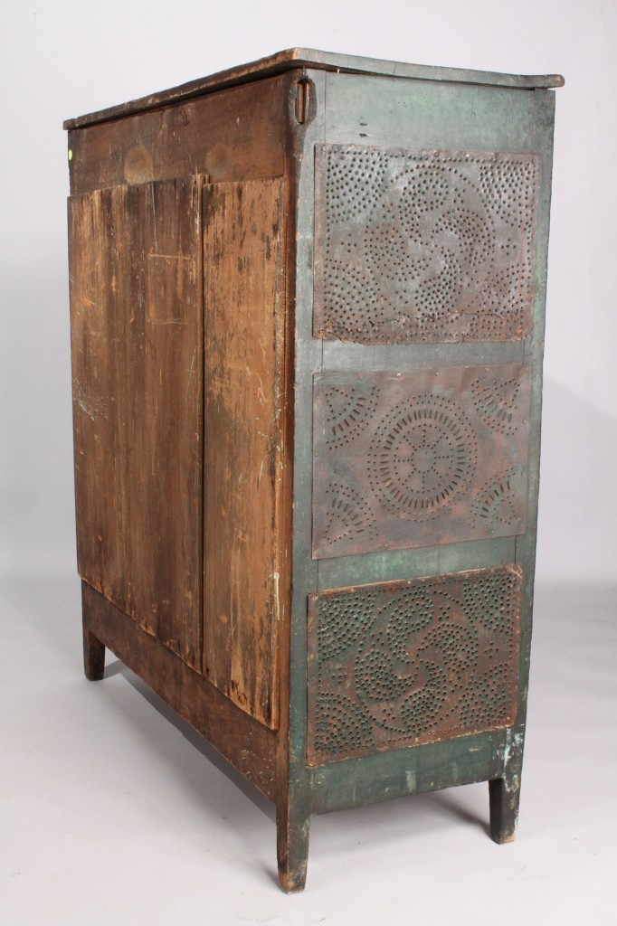 Lot 136: NC Green-painted Pie Safe