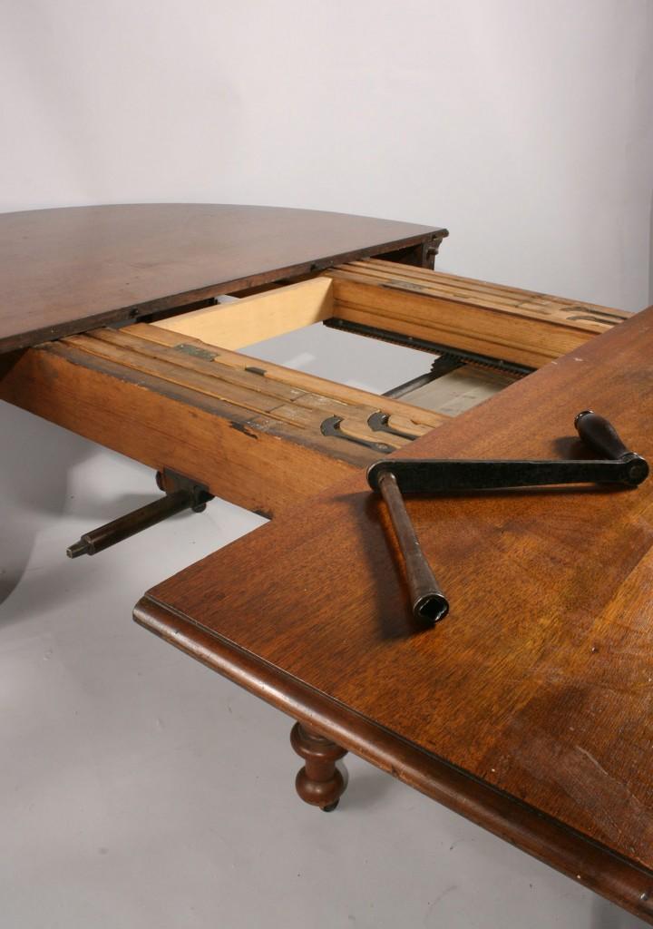 Lot 140: Walnut Renaissance Revival Dining Table & 14 chair