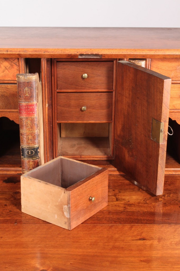 Lot 142: Chippendale Slant Front Desk with ogee feet