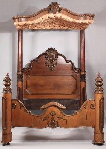 Lot 143: Rococo Revival Half Tester bed, C. Lee
