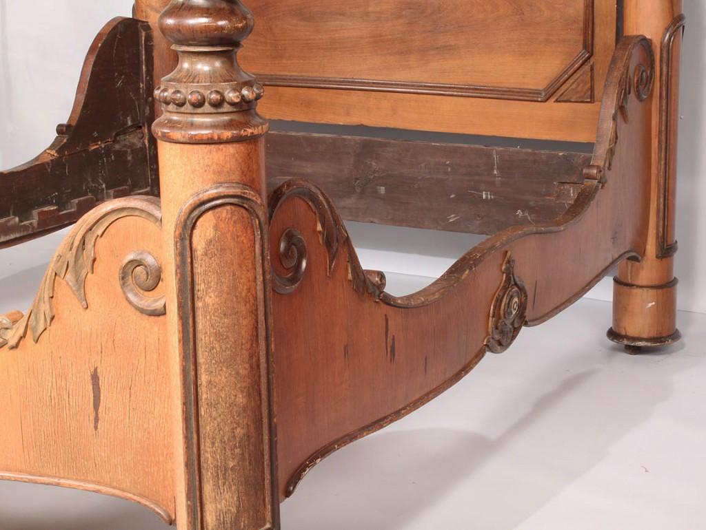 Lot 143: Rococo Revival Half Tester bed, C. Lee