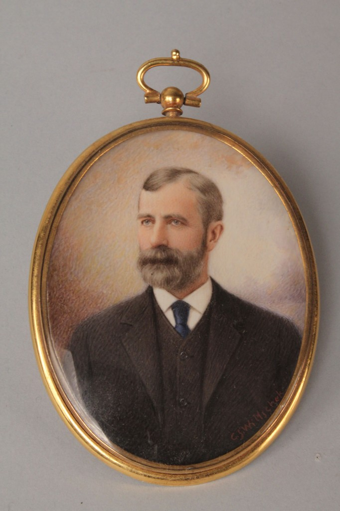 Lot 150: Miniature on Ivory and engraving portrait