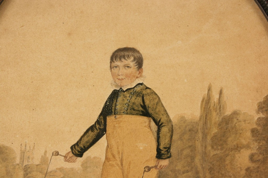 Lot 152: Watercolor of Child Skipping Rope