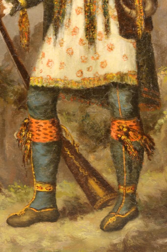 Lot 154: 19th c. portrait of Osceola, oil on canvas