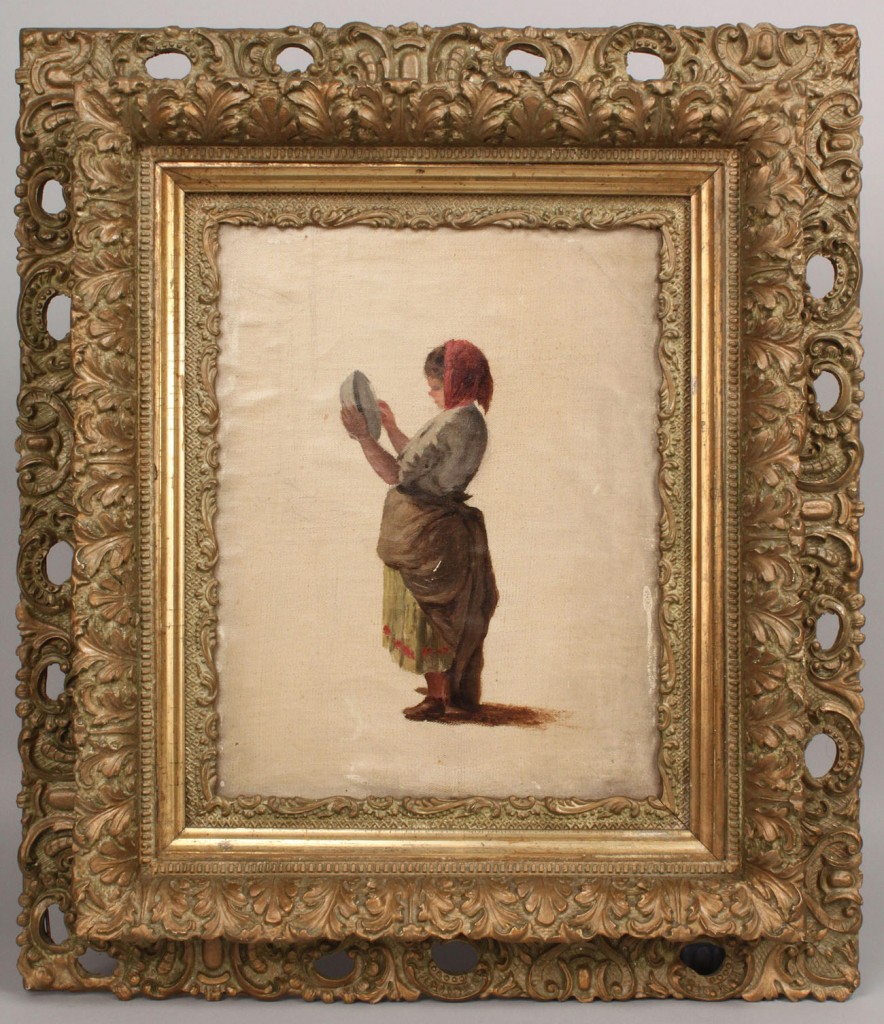 Lot 155: Two Thomas Campbell paintings, European figures
