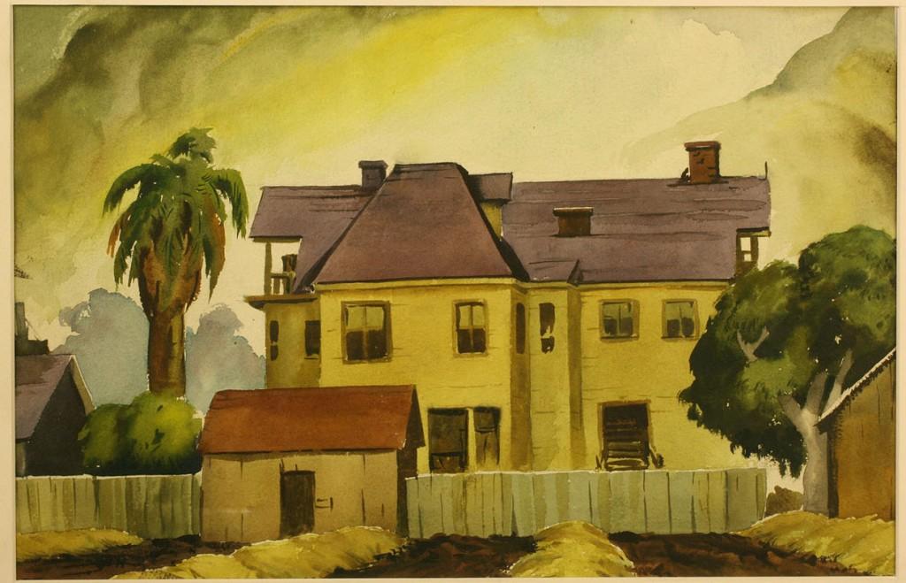 Lot 156: 2 Watercolors, attrib. Paul Starrett Sample