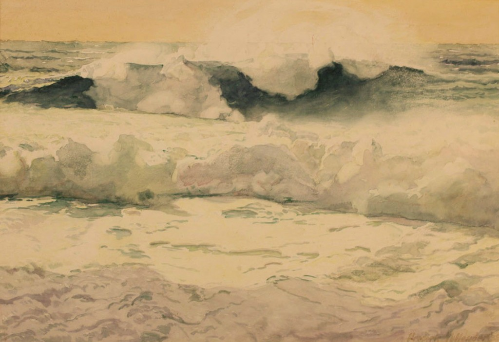 Lot 159: Frederic Tellander Watercolor Seascape