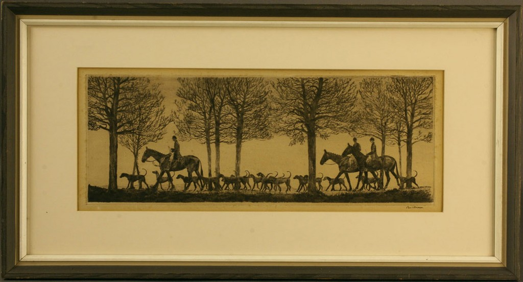 Lot 160: Equestrian Etching, Paul Desmond Brown