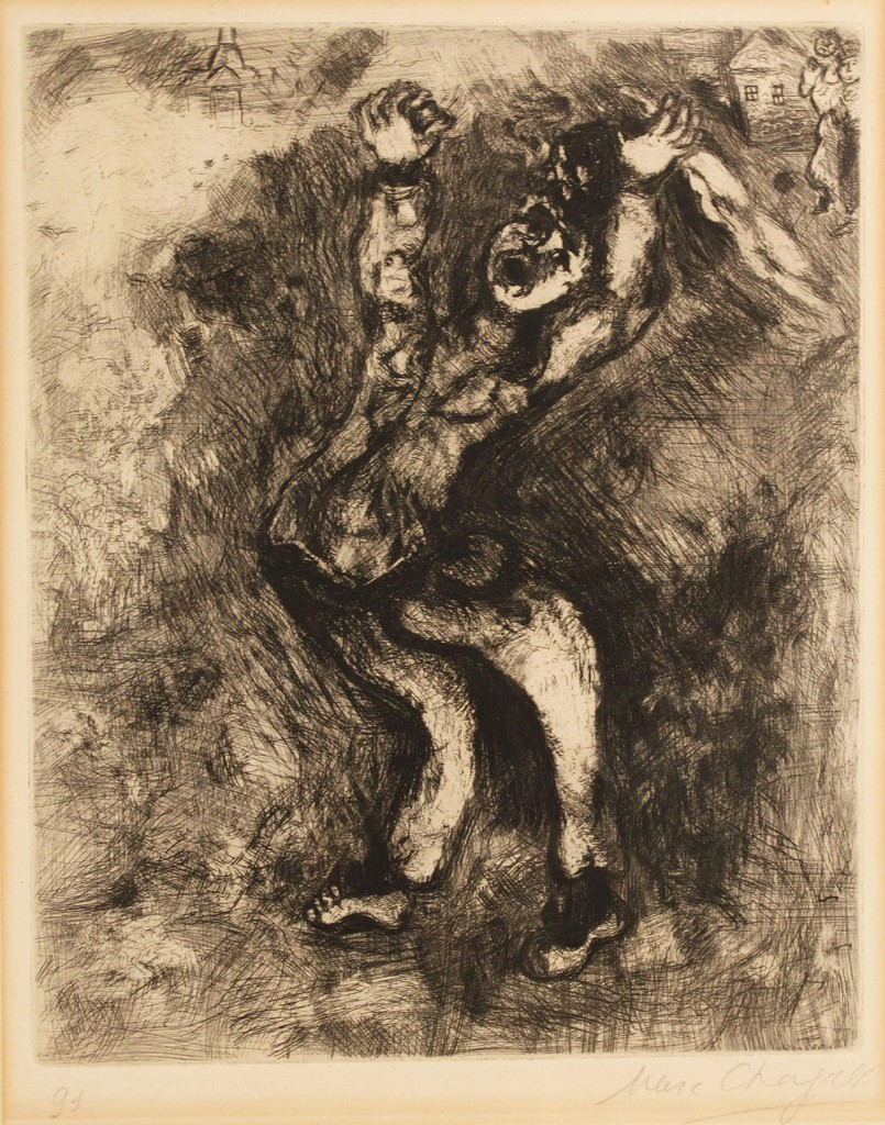 Lot 163: Marc Chagall etching, Madman Who Sold The Wisdom