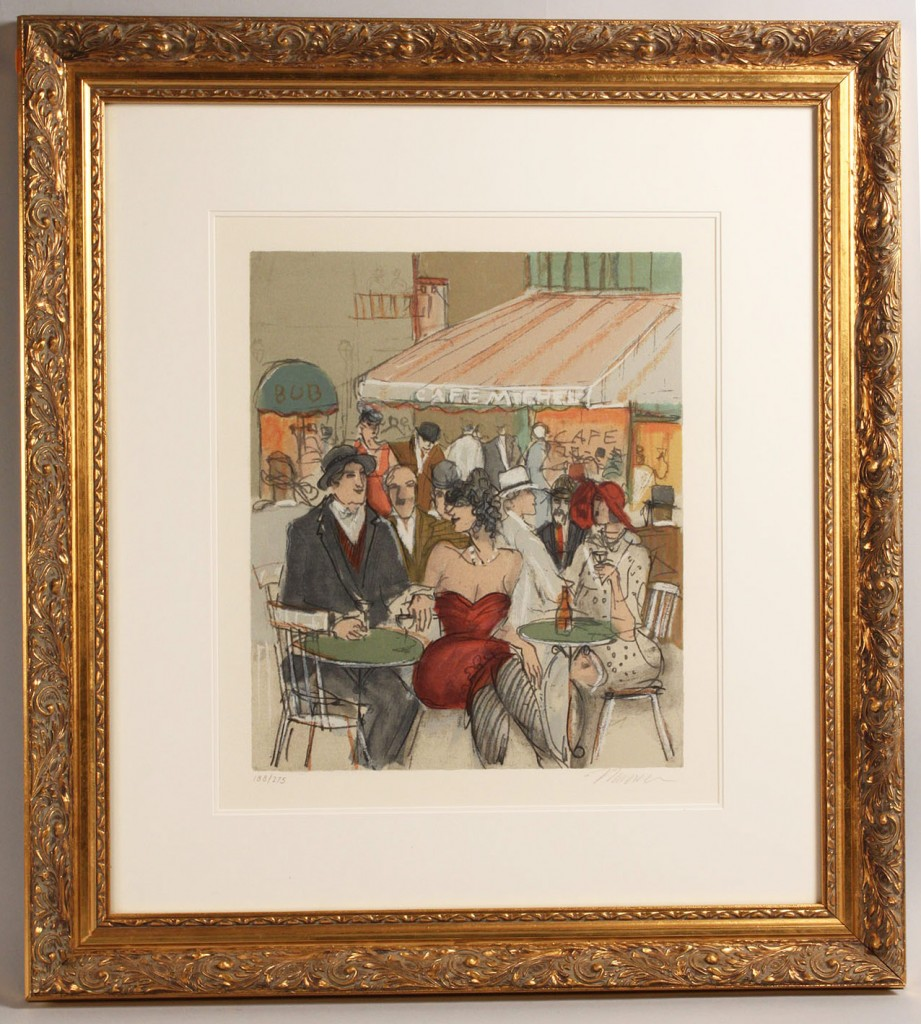 Lot 164: Issac Maimon framed lithograph