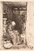 """165: James Whistler etching, """"La Vielle Aux Loques"""""""