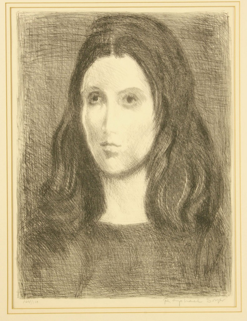 Lot 167: Raphael Soyer, lot of 2 lithographs