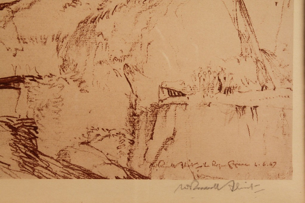 Lot 168: Sir William Russell Flint signed Lithograph