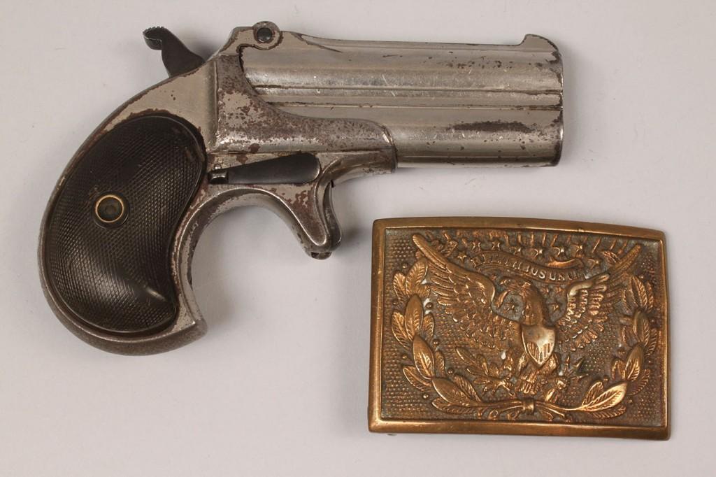 Lot 16: Remington Double Barrel Derringer model 3 plus Eagl