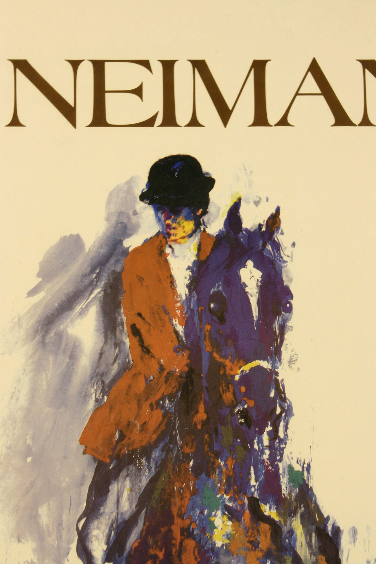Lot 170 Leroy Neiman Signed Santa Anna Serigraph And Horse