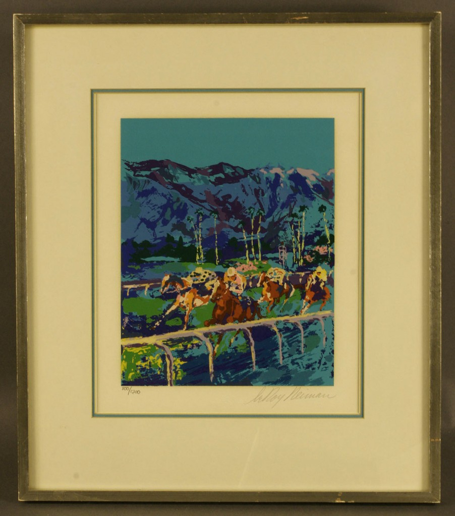 Lot 170: Leroy Neiman signed Santa Anna Serigraph and horse