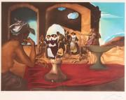 "171: Salvador Dali lithograph, ""The Slave Market"""