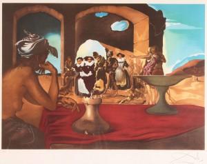 "Lot 171: Salvador Dali lithograph, ""The Slave Market"""