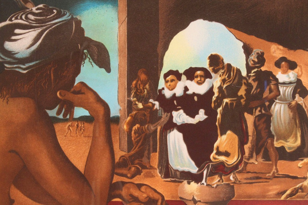 "Lot 171: Salvador Dali lithograph, ""The Slave Market"""