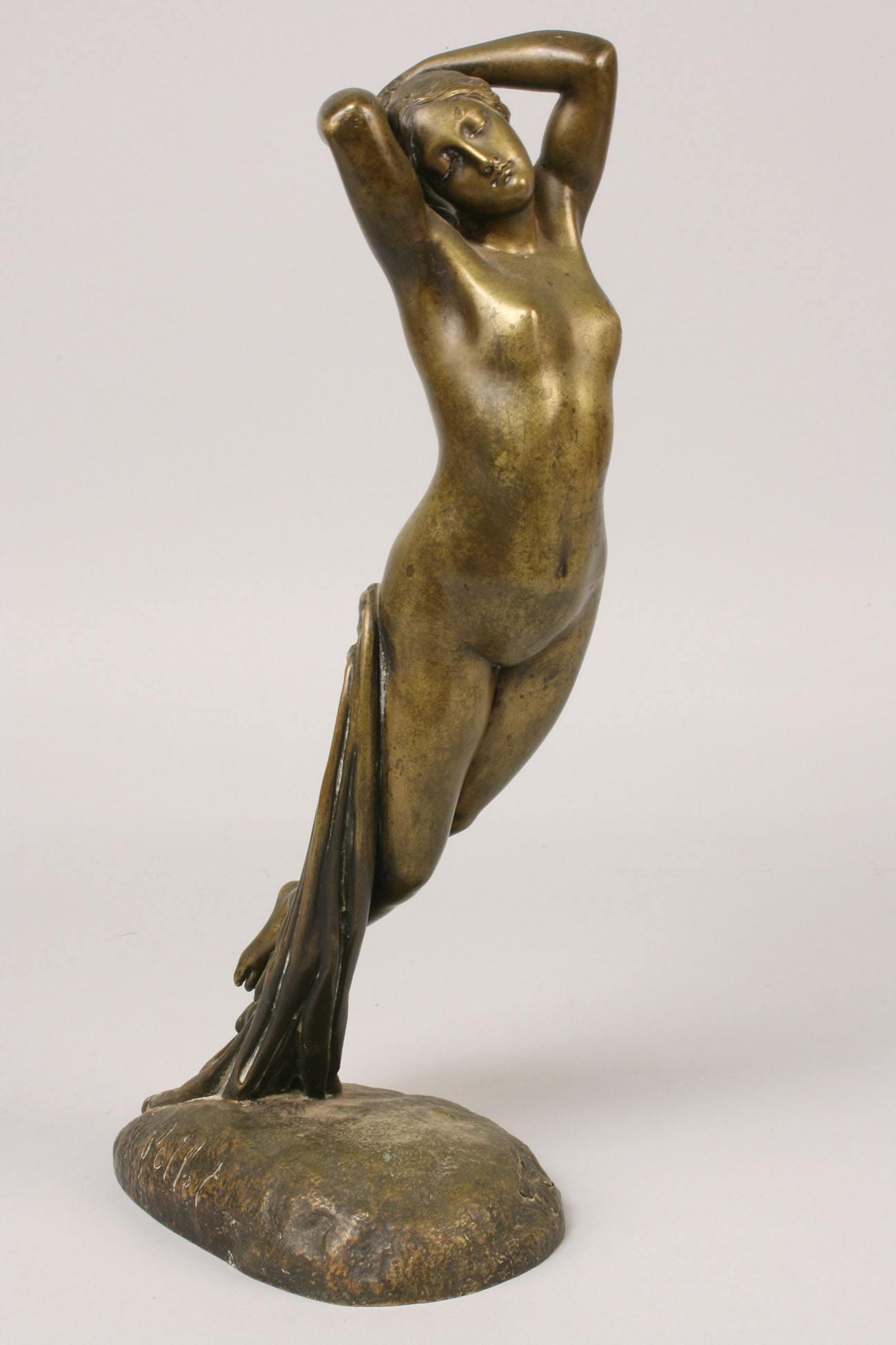 180: French Bronze Nude by Pollet