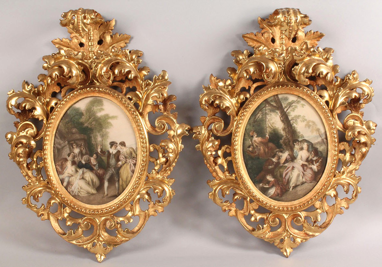 184: Pair of giltwood Rococo frames