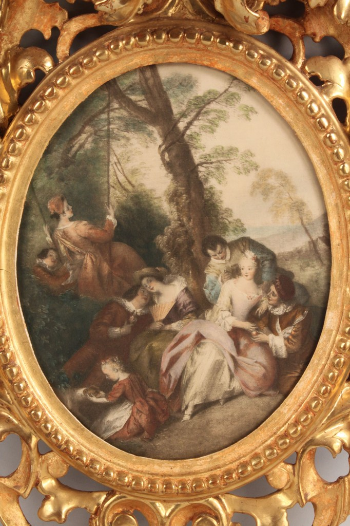 Lot 184: Pair of giltwood Rococo frames