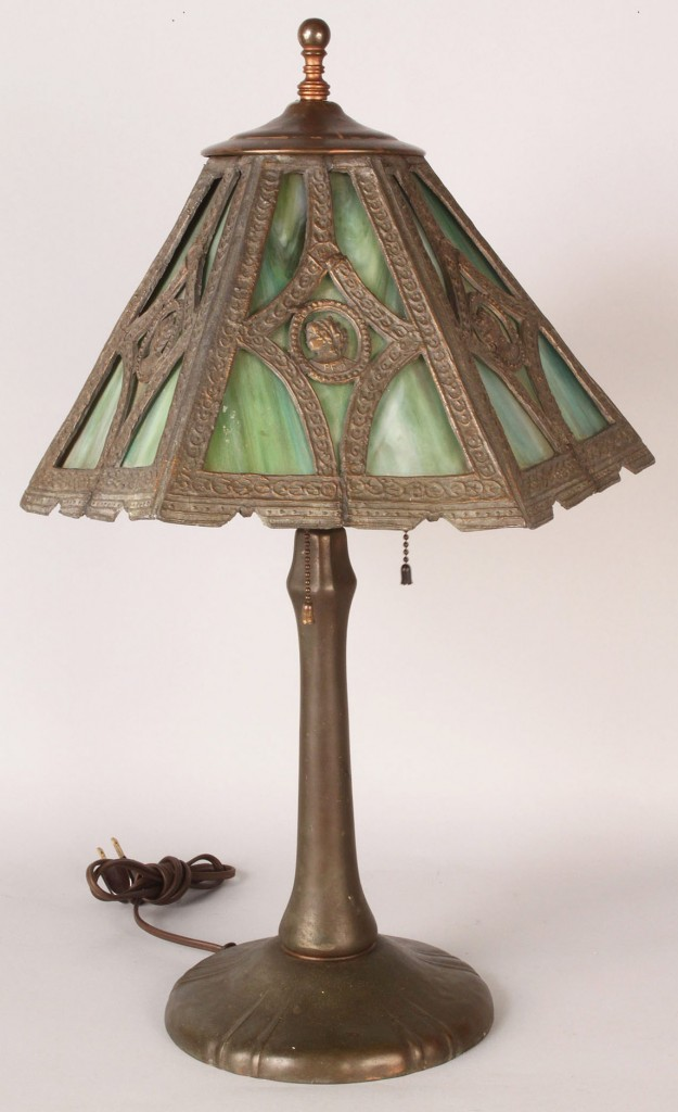 Lot 186: Neoclassical Bronze Lamp