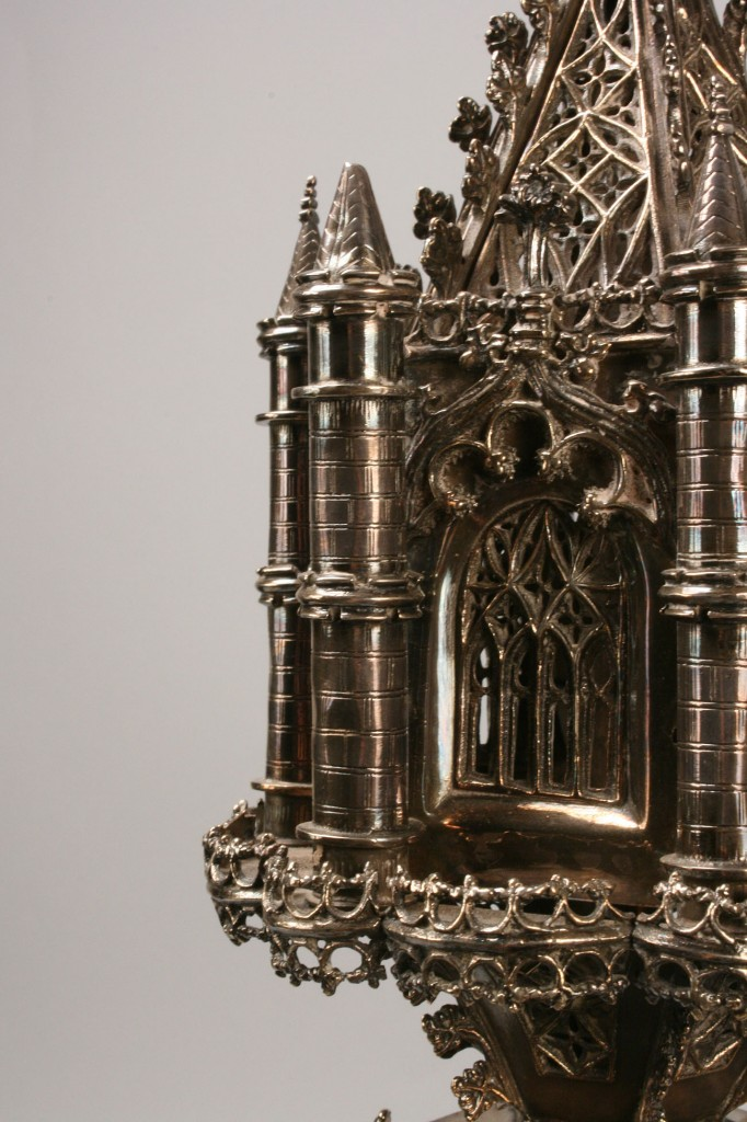 Lot 188: Pair of Gothic style Altar Lamps