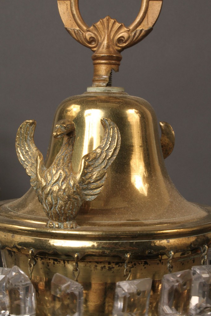 Lot 189: Suite of 3 Brass Argand lamps