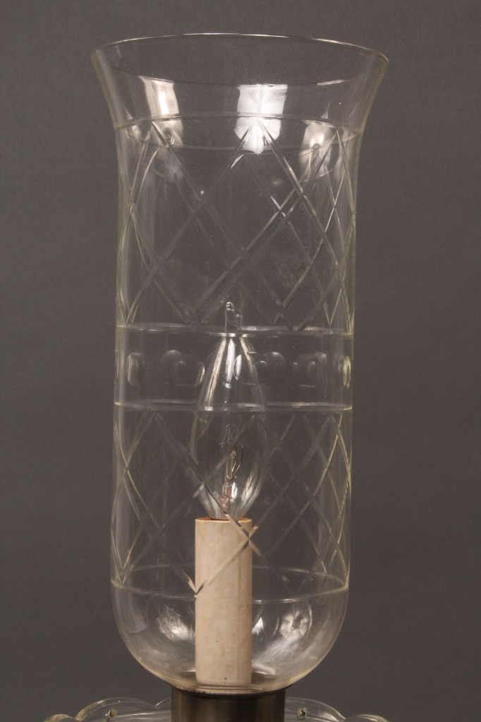 Lot 191: Pair of crystal lustre lamps