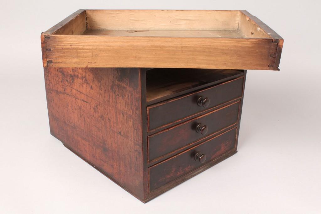 Lot 192: Small English Mahogany 4 Drawer Cabinet