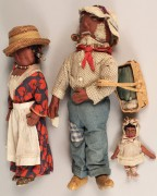 197: Folk Art African American Doll Family