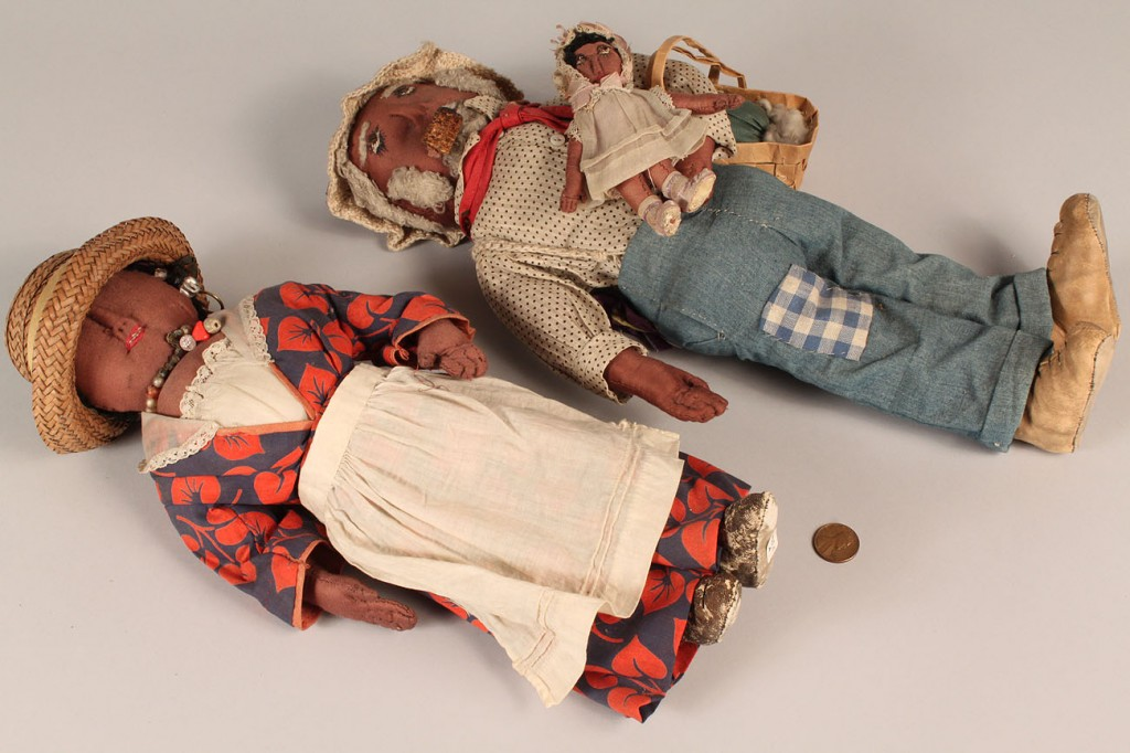 Lot 197: Folk Art African American Doll Family