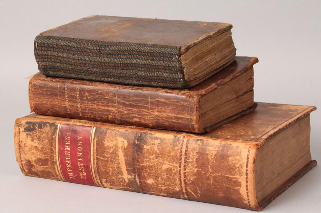 Lot 1: 3 Books, Johnson Impeachment, Life of Andrew Jackson