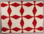 200: Southern Red & White Pieced Quilt, possibly East T