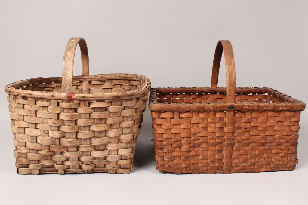 Lot 202: Three East Tennessee Baskets