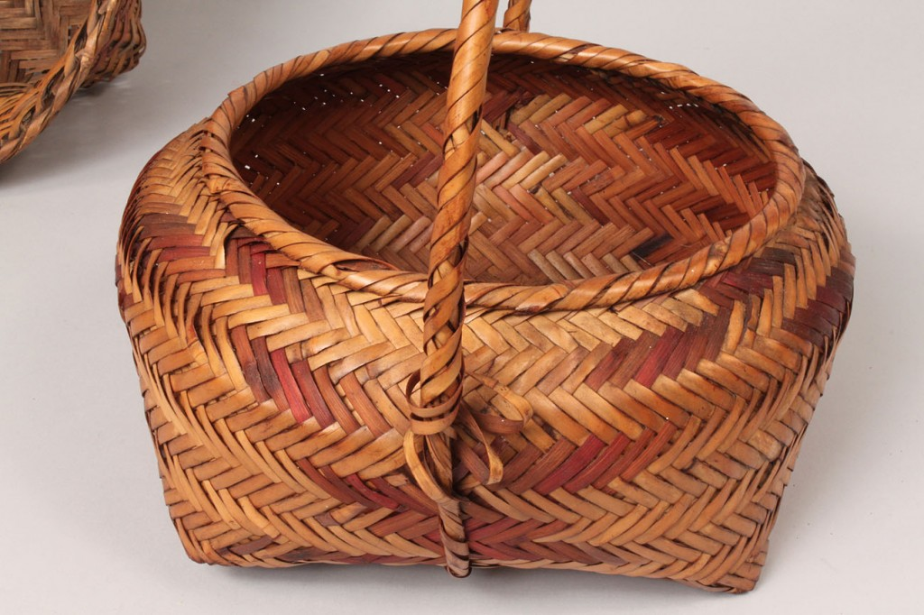 Lot 203: Three Choctaw Indian Baskets