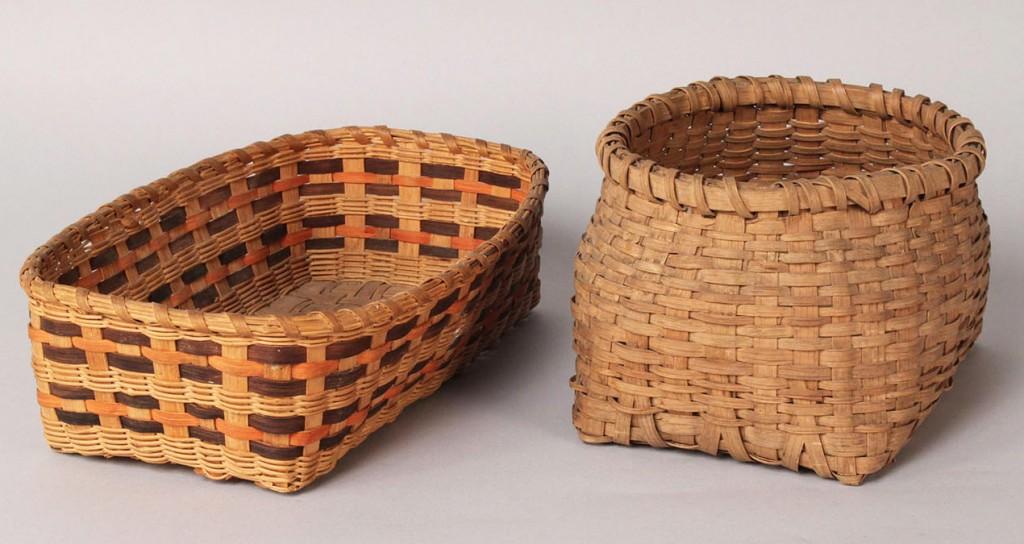 Lot 204: Lot of 2 Cherokee Baskets