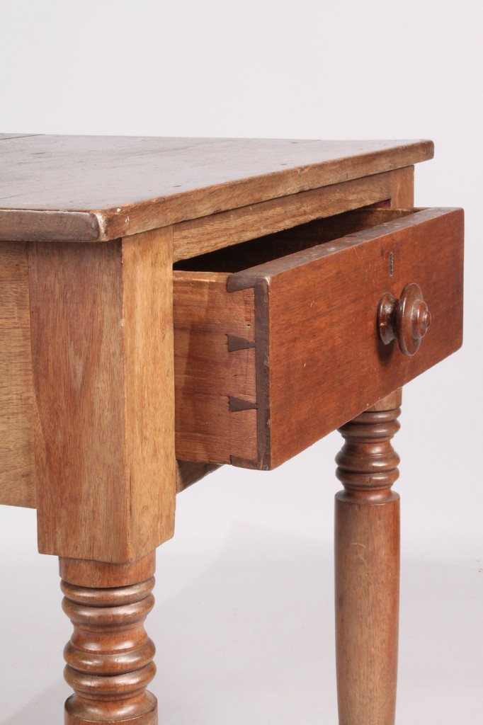 Lot 205: Middle TN Walnut One-Drawer Stand