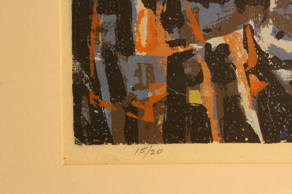 Lot 20: Charles Kermit Ewing Lithograph, Signed