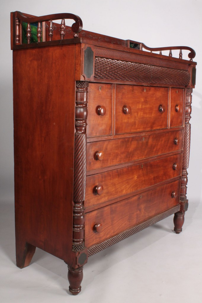 Lot 212: Classical Chest of Drawers with Eglomise Panels