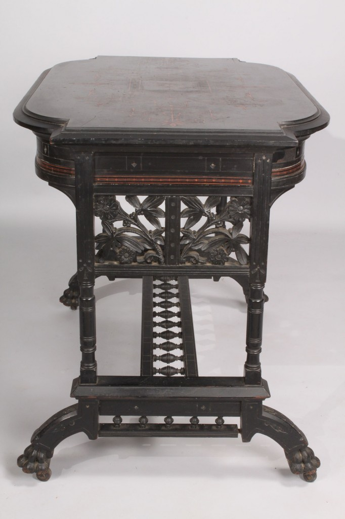 Lot 217: Aesthetic Movement Library Table, possibly Herter
