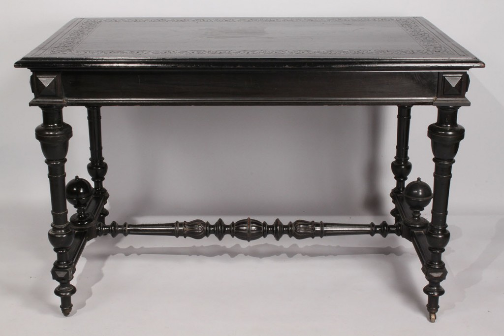 Lot 218: Aesthetic Movement Library Table