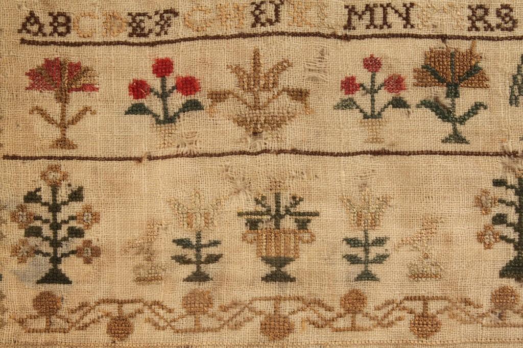 Lot 225: Silk on Linen Sampler, 1808
