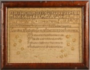 226: Massachusetts Needlework Sampler, 1830, Caroline L