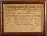 226: Massachusetts Needlework Sampler, 1830, Caroline L
