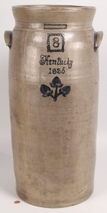 Lot 229: Cobalt Decorated Kentucky Churn, Isaac Thomas