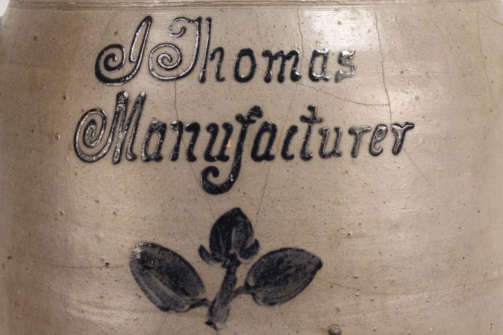 Lot 229: Cobalt Decorated Kentucky Churn, Isaac Thomas