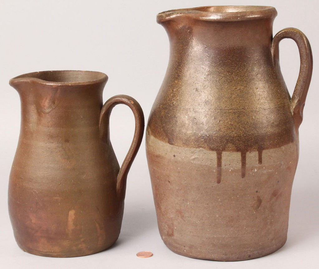 Lot 235: Two Middle TN Stoneware Pitchers